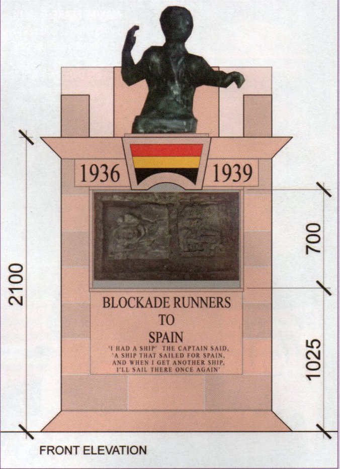 The architect's drawing for the new memorial 'Blockade Runners to Spain