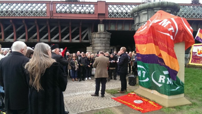Speeches before the unveiling of the monument 'Blockade-Runners to Spain' – part of a photo reportage of the unveiling of the monument 'Blockade-Runners to Spain' in Glasgow, 2. March 2019