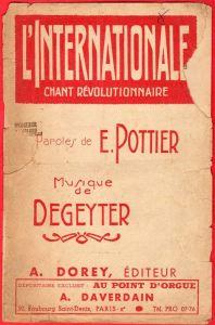 """Forsiden til det første sanghæfte med """"Internationale"""""""