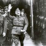 Franco og Hitler i Hendaya, ved grænsen til Frankrig, 1940