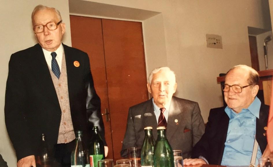Michail Jakusjin, Marius Christiansen und Egon Gissel. Foto: Privatbesitz