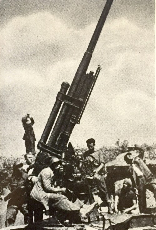 One of the Dimitrov Battalion cannons just outside Madrid