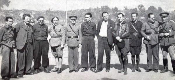 11 representatives of the international labour movement in the Spanish Civil War