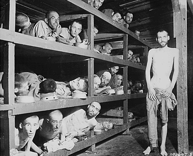 Buchenwald prisoners, 16 April 1945
