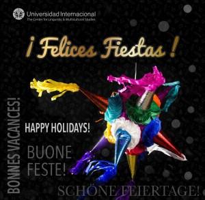 Postal Felices Fiestas Spanish 2015
