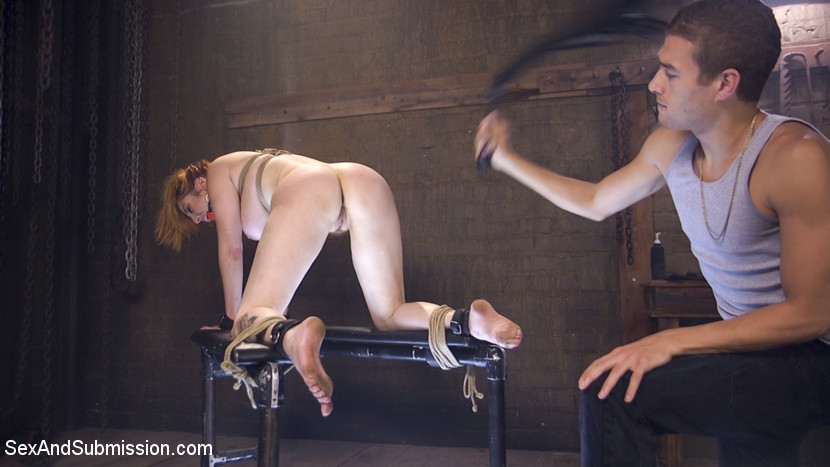 Lauren Phillips whipped at Sex and Submission