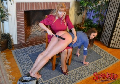 Chrissy Marie gets punished at Spanked Sweeties - 10 - Strapped