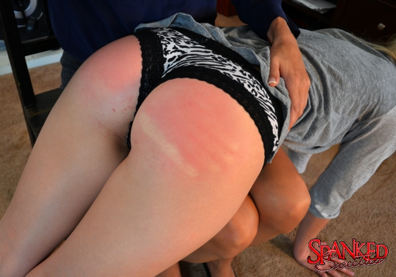 Star Nine spanking Riley Anne at Spanked Sweeties - 006
