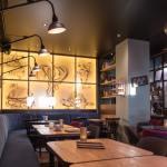 Akoestisch spanplafond bij Liberty Foodbar
