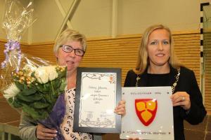 Oddveig Johansen ble tildelt Lavangen kommunes kulturpris for 2016