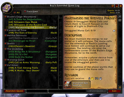beql (Bayi's Extended Questlog)