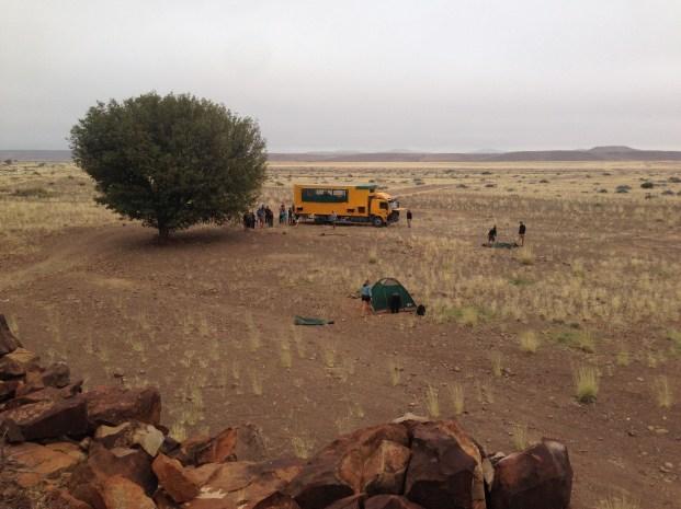 Bush camp in Namibia