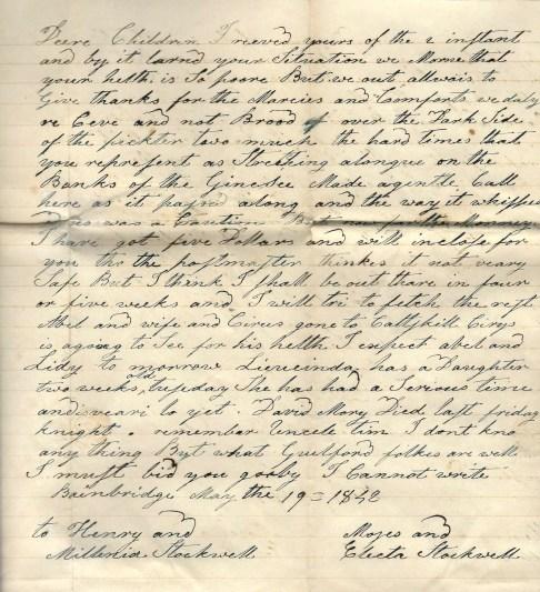 1842 Letter
