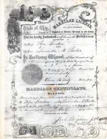 Pope Gordon's Marriage License