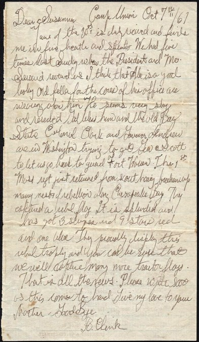 Letter on reverese