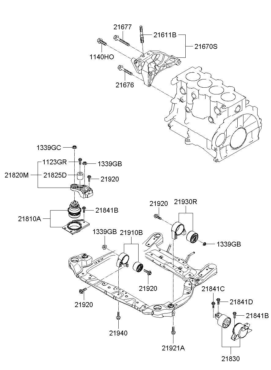 hight resolution of bracket assy engine mtg