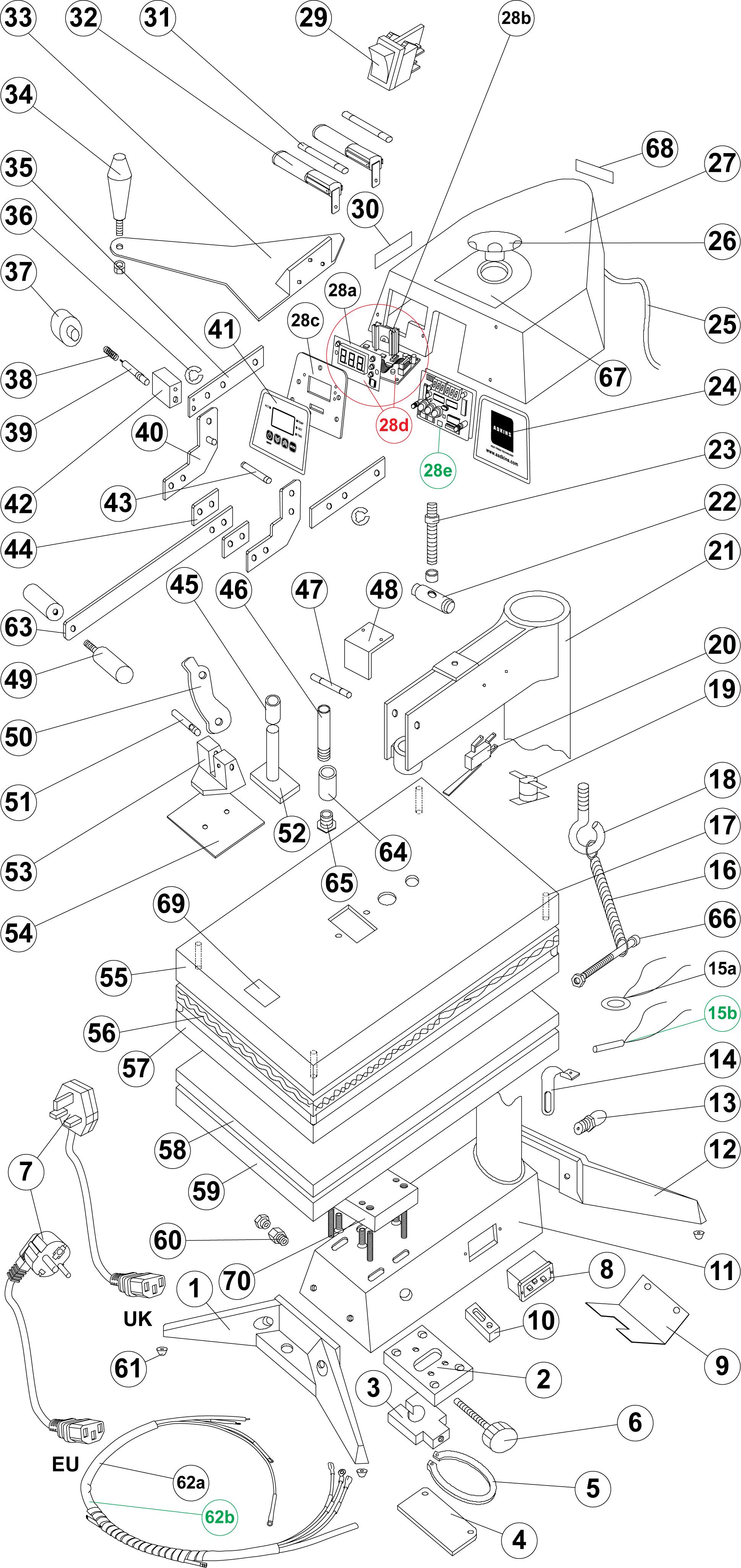 Maxi Hi-Lift Exploded Diagram