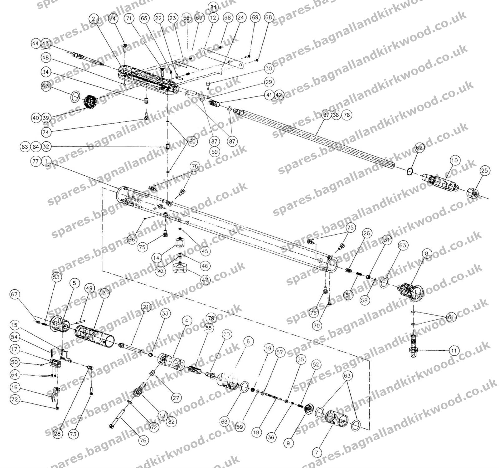 hight resolution of fx bobcat air rifle exploded parts list diagram a