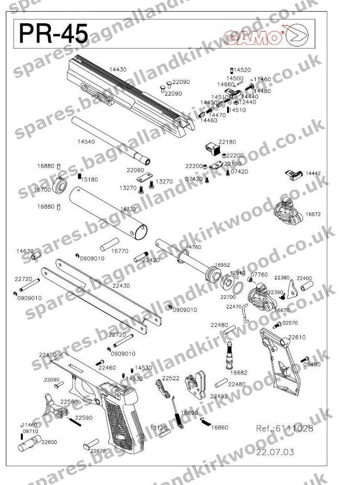 Gamo Pr45 Bagnall And Kirkwood Airgun Spares