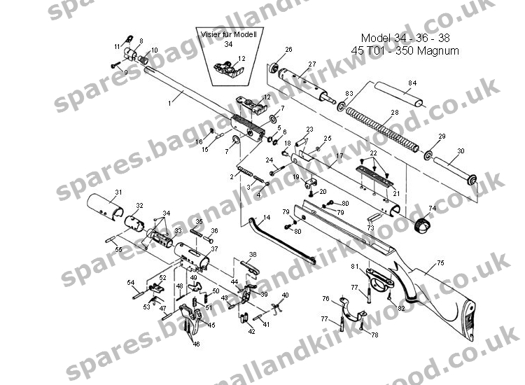 Rws Diana Model 94 Air Rifle Schematic
