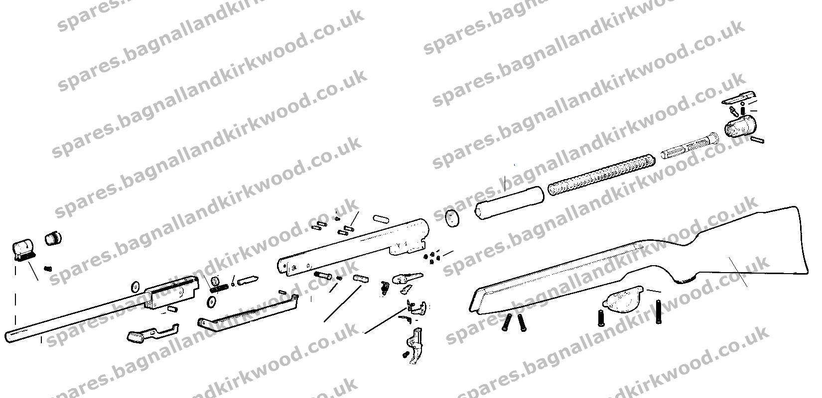 webley omega air rifle exploded parts diagram