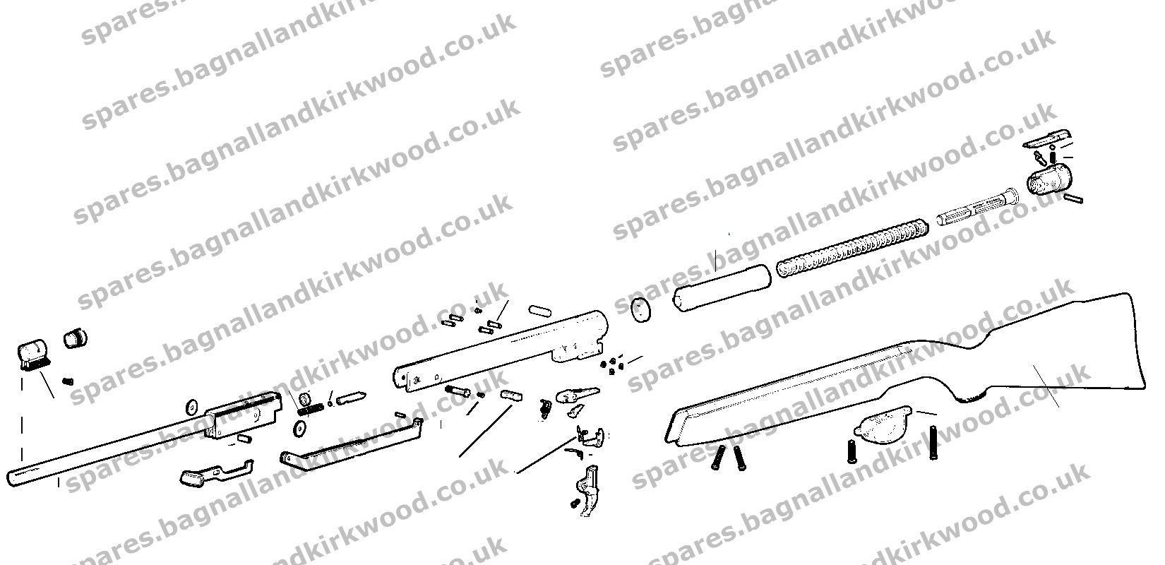 webley omega spare parts bagnall and kirkwood airgun spares rh spares bagnallandkirkwood co uk pellet rifle parts diagram air gun parts diagram