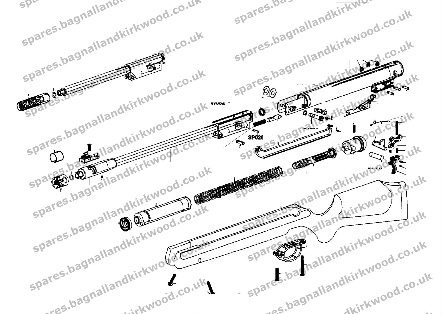 Webley Stingray Spare Parts