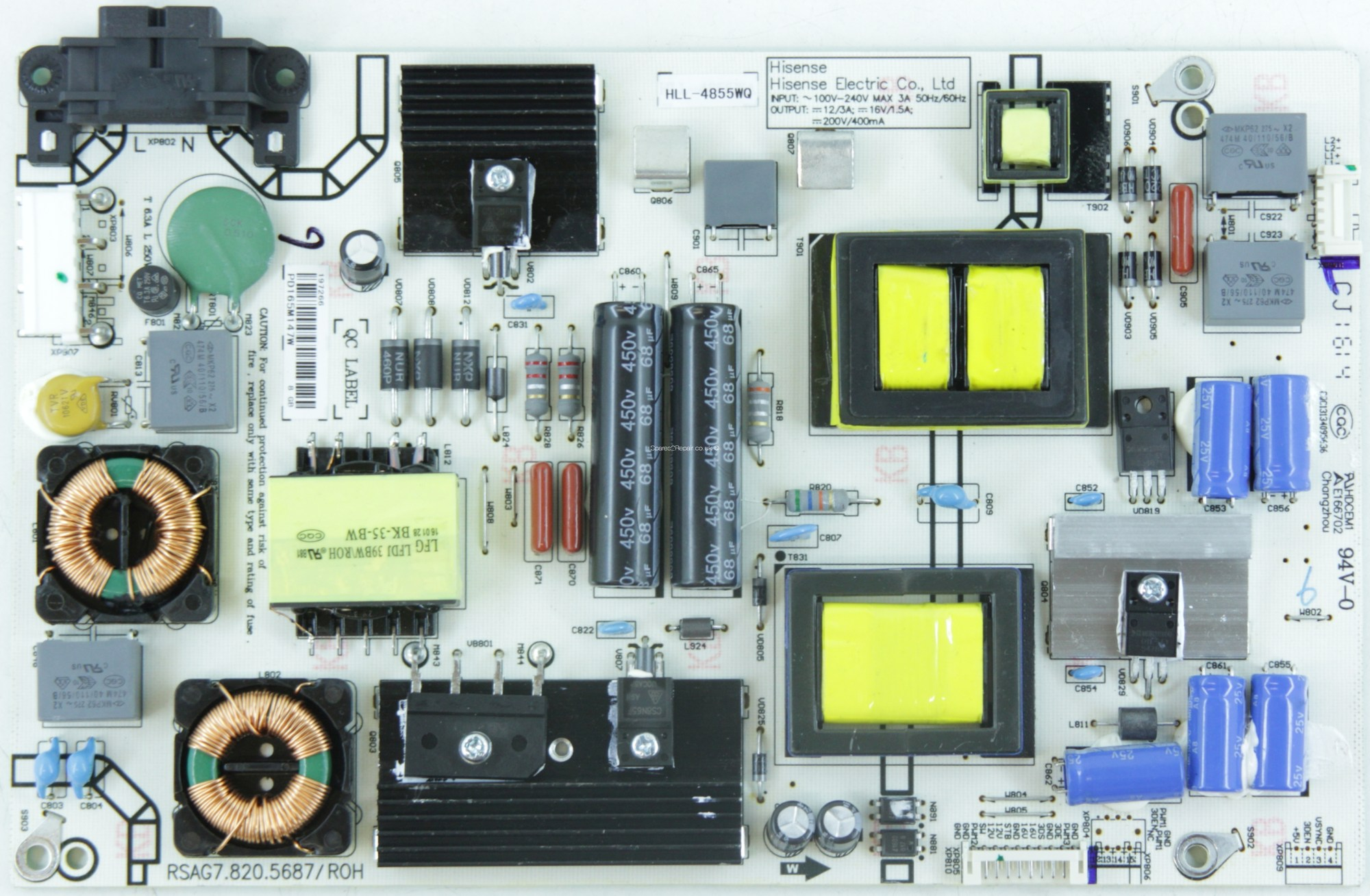 hight resolution of hisense h49m3000 power supply hll 4855wq pd165m147w rsag7 3d led tv hisense led tv schematic diagram