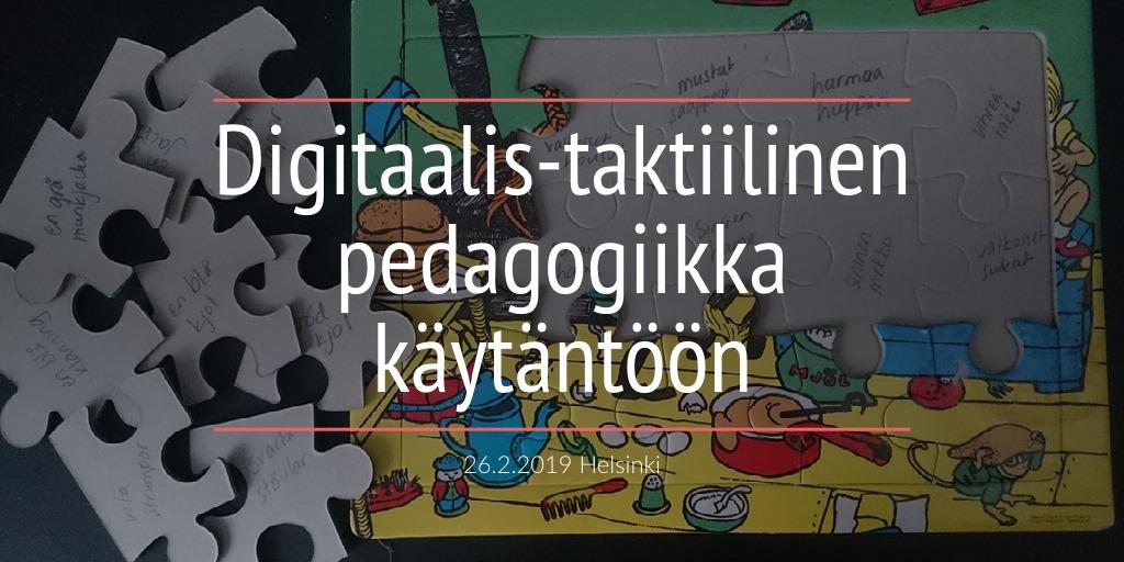 Digitaalis-taktiilinen pedagogiikka