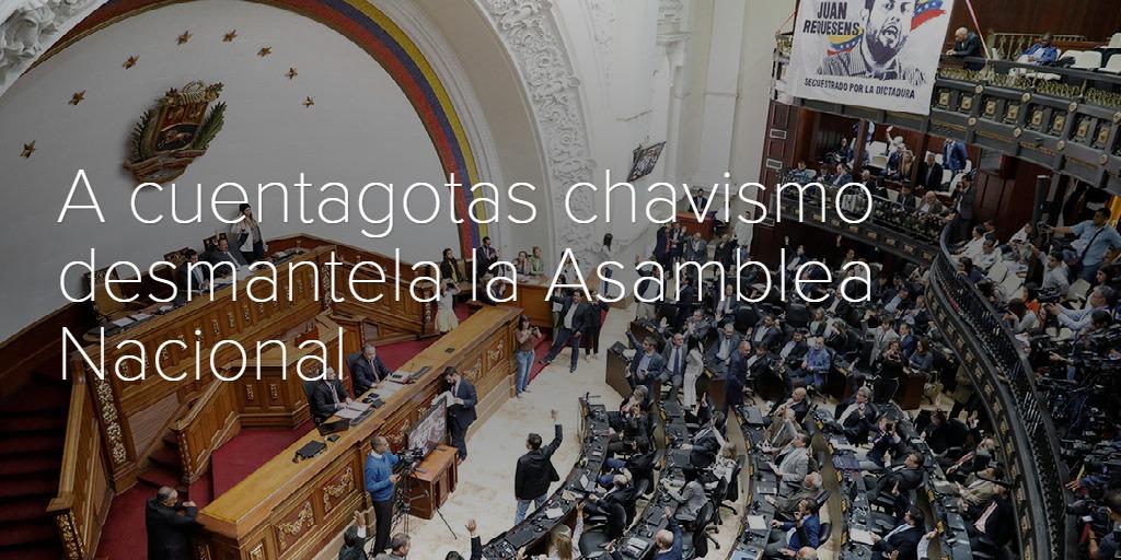 A cuentagotas chavismo desmantela la Asamblea Nacional