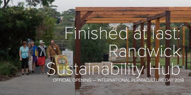 Finished at last: Randwick Sustainability Hub