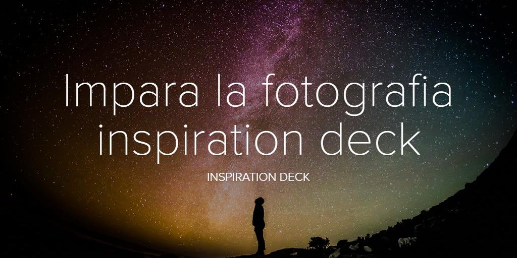 Impara la fotografia inspiration deck
