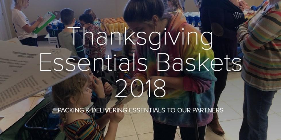 Thanksgiving Essentials Baskets 2018