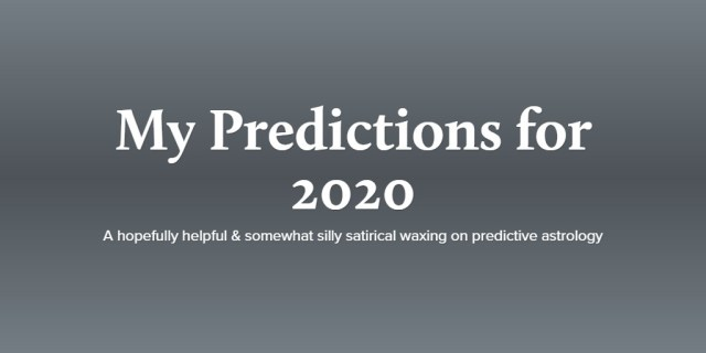 My Predictions for 2020