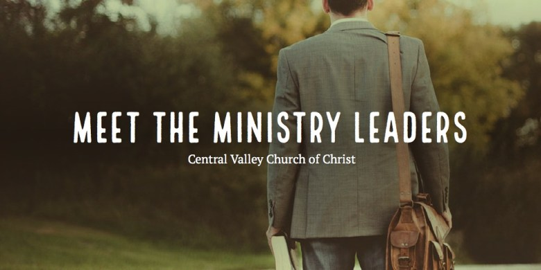 Meet the Ministry Leaders