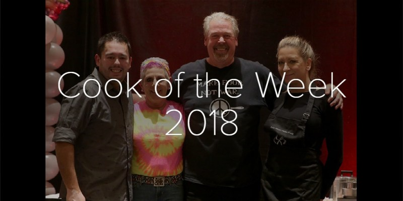 Cook of the Week 2018