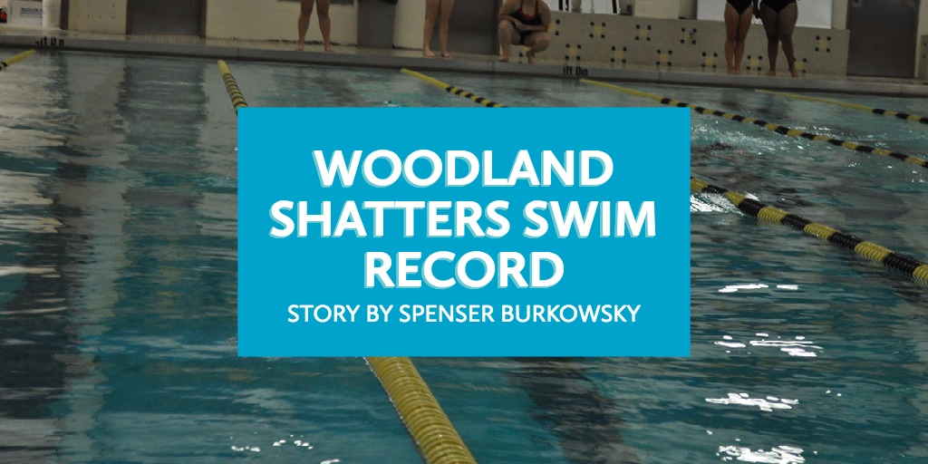 WOodland shatters Swim record
