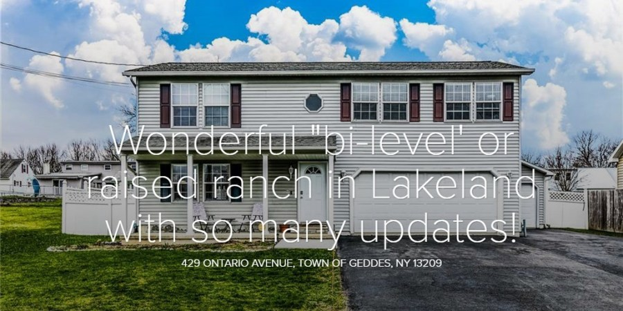 "Wonderful ""bi-level' or raised ranch in Lakeland with so many updates!"