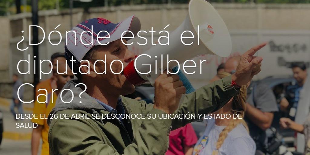 ¿Dónde está el diputado Gilber Caro?