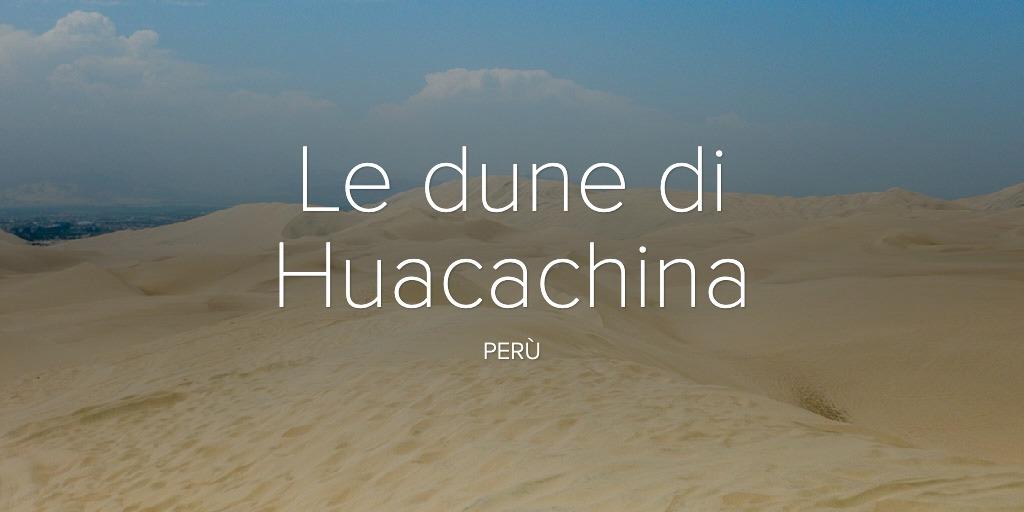Le dune di Huacachina