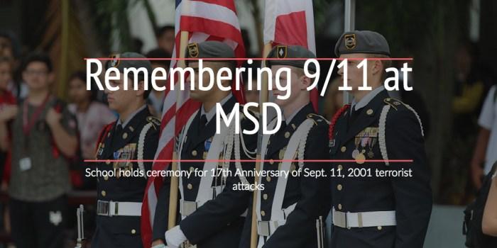Remembering 9/11 at MSD