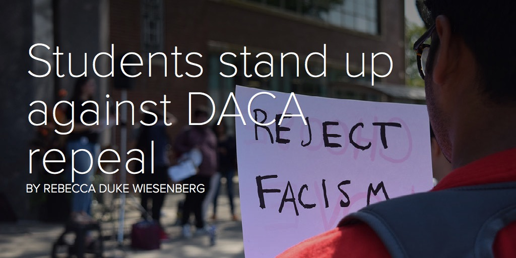 Students stand up against DACA repeal