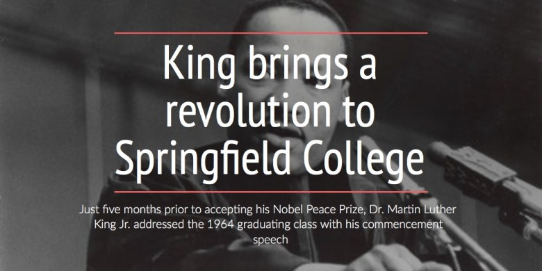 King brings a revolution to Springfield College