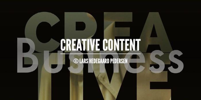 Lars Hedegaard Pedersen - Content Portfolio