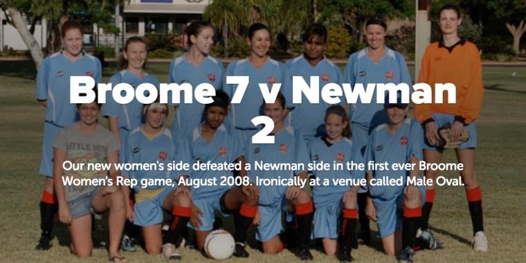 Broome 7 v Newman 2