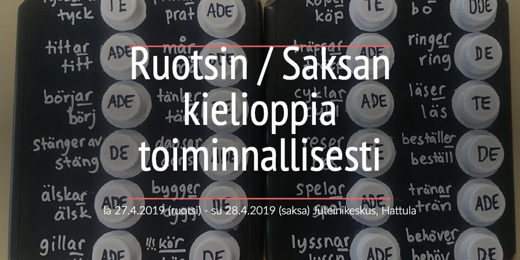 Ruotsin / Saksan kielioppia toiminnallisesti