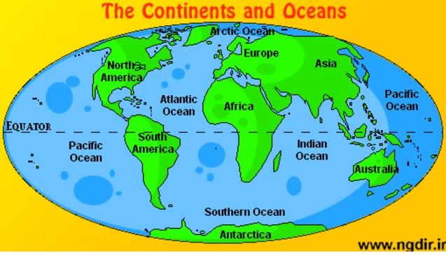 7 Continents & 5 Oceans