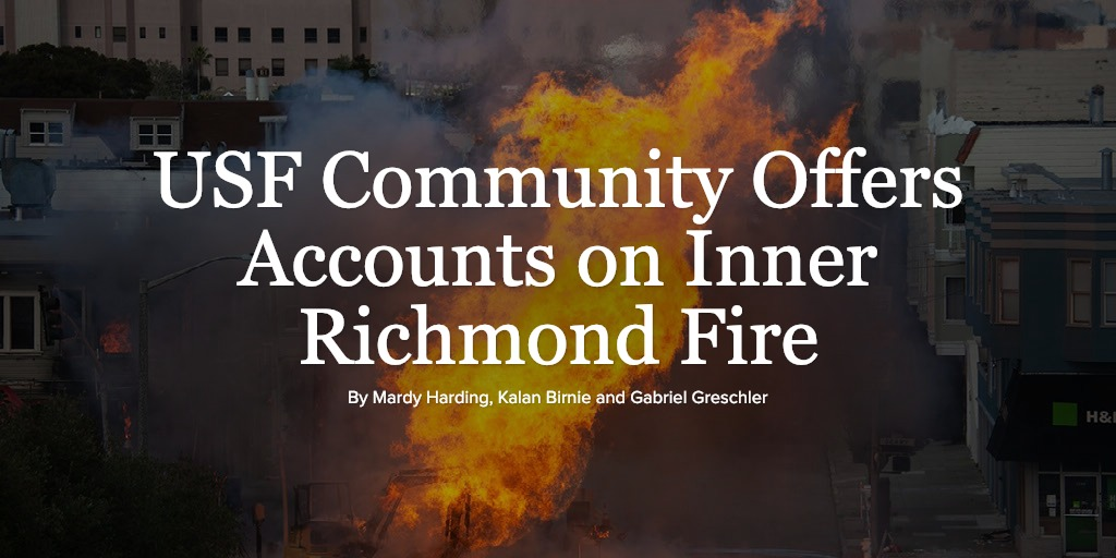 USF Community Offers Accounts on Inner Richmond Fire