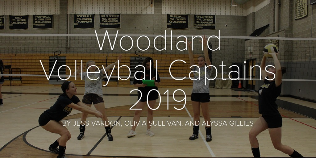 Woodland Volleyball Captains 2019