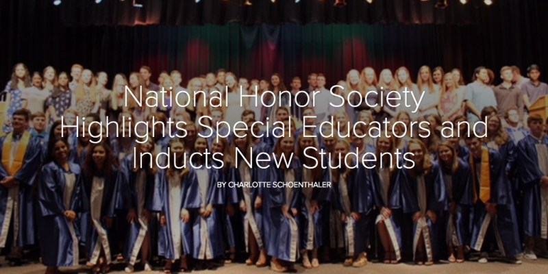 National Honor Society Highlights Special Educators and Inducts New Students